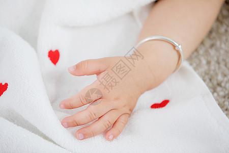婴儿手部特写图片