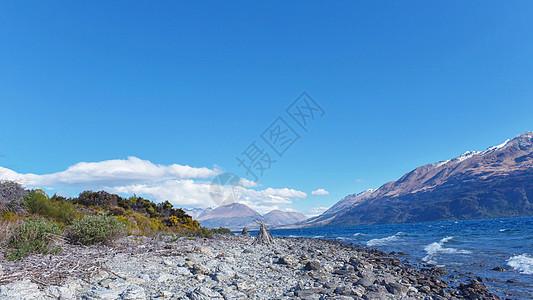 新西兰南岛雪山海滨图片