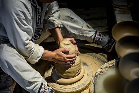 陶艺手工拉坯图片