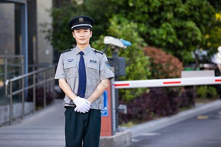 保安指挥交通图片