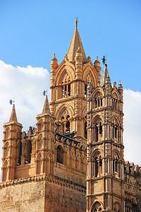 巴勒莫大教堂塔楼图片
