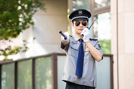 保安户外棍棒对讲机图片