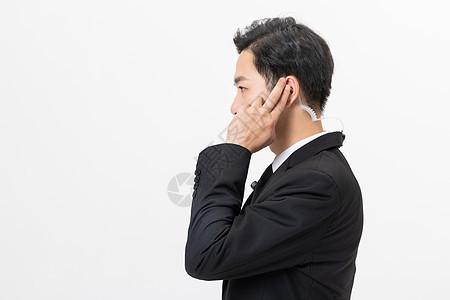 保镖耳机对讲机图片