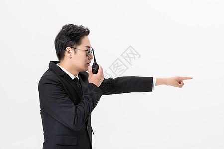 保镖对讲机图片