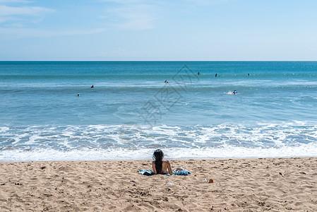 印尼巴厘岛库塔海滩图片
