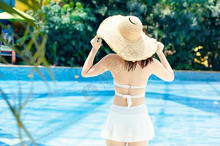 水上乐园美女度假图片