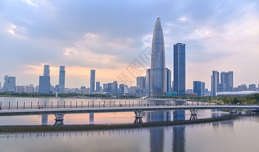广东省深圳市南山区人才公园白天风光图片