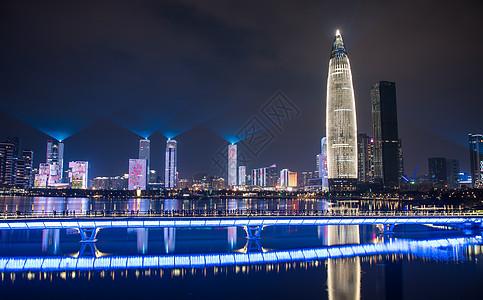 广东省深圳市南山区人才公园灯光秀图片