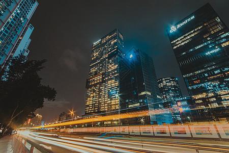 广东省深圳市南山区后海城市夜景图片