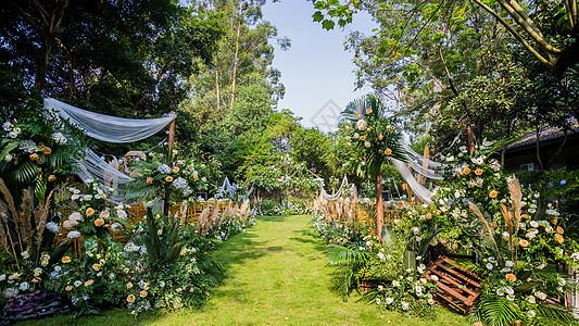 草坪婚礼场景图片