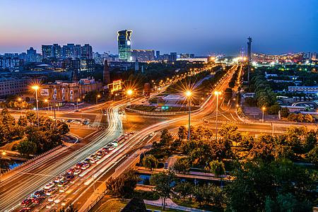 北京奥体中心夜晚全景图片