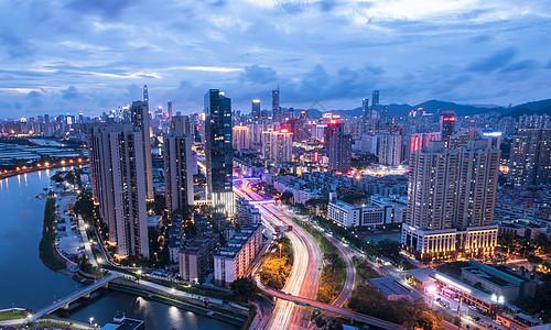 广东省深圳市罗湖区城市夜景图片