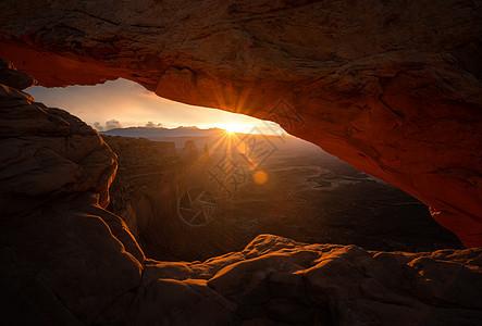丹霞地貌日出日落图片