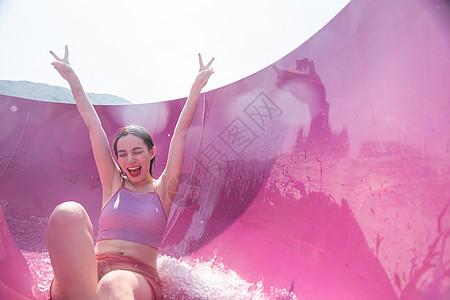 美女 水滑梯_玩滑梯图片_玩滑梯素材_玩滑梯高清图片_摄图网图片下载