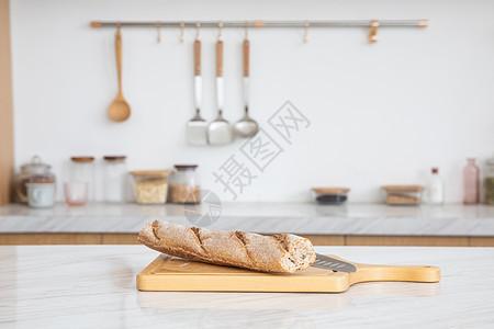 厨房面包早餐图片