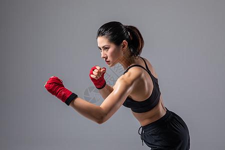 女性拳击运动图片