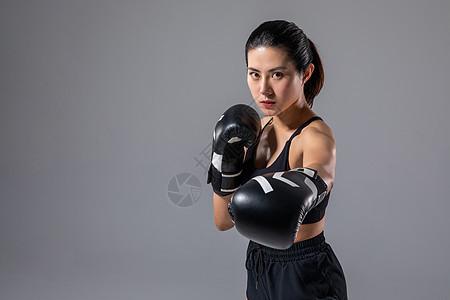 女性运动拳击图片