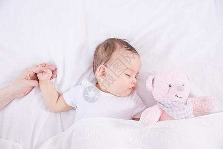 母婴睡眠陪伴图片