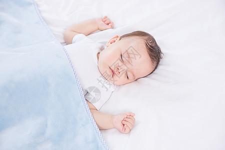 外国婴儿睡觉图片