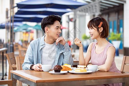 情侣约会下午茶图片