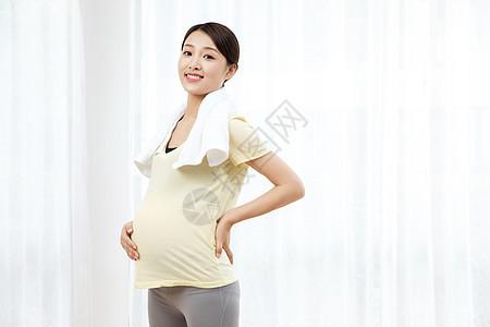 孕妇运动后休息图片