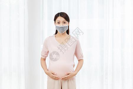 孕妇戴口罩图片