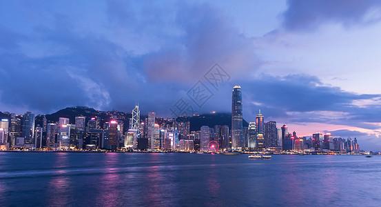 香港维多利亚港夜景风光图片