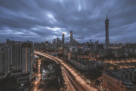 广州珠江新城日出图片