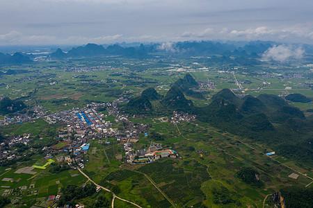 桂林临桂区会仙玻璃田航拍图片