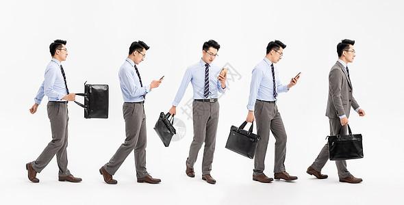 商务男性走路图片