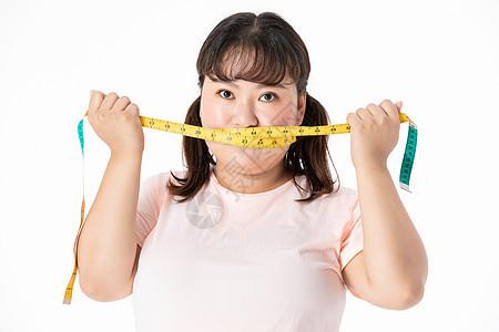 胖女孩节食图片