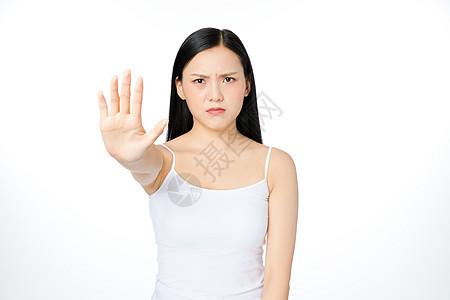女性拒绝手势图片