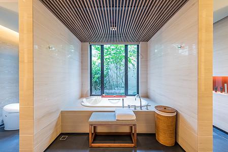度假酒店洗浴间图片