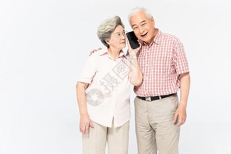 老年人打电话图片