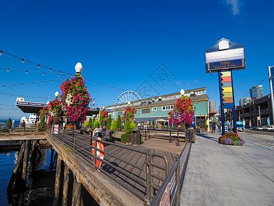 美国西雅图渔人码头图片