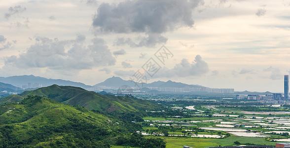 深圳罗湖口岸与香港交界处风光图片