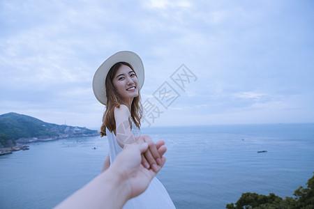夏日海边清新美女图片