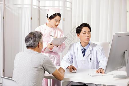 医生给病人看病图片
