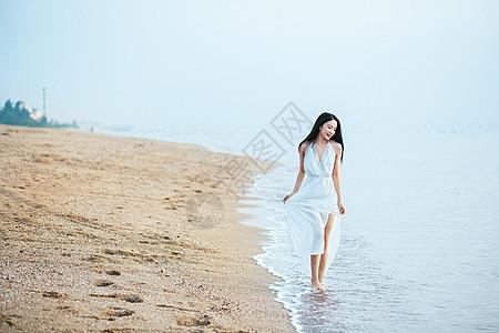 厦门海边美女人像图片