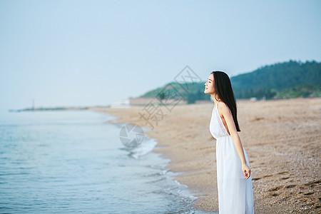 海边人像图片