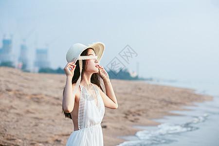 海边半身情绪美女图片