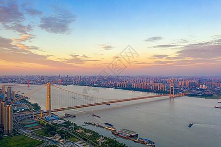 建设中的武汉杨泗港长江大桥图片