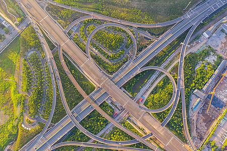 武汉城市错综复杂的环状立交桥图片