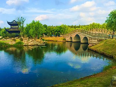 上海浦东临港书院人家景区风光图片