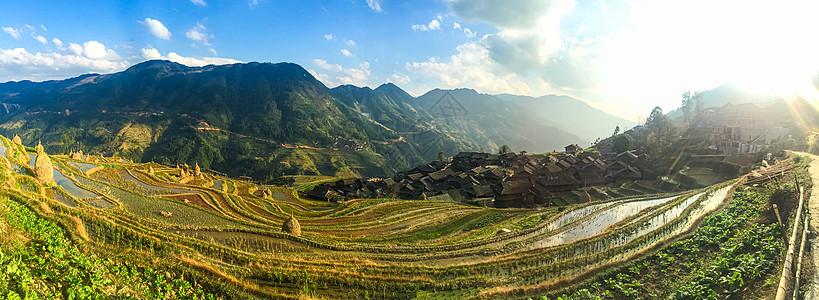 贵州黔东南月亮山梯田景点风光图片