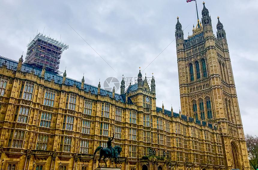 英国国会大楼外景图片