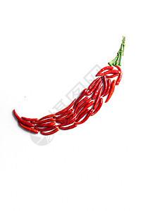 红色小米椒摆成辣椒图片