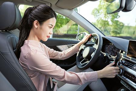 美女车看手机导航开车图片