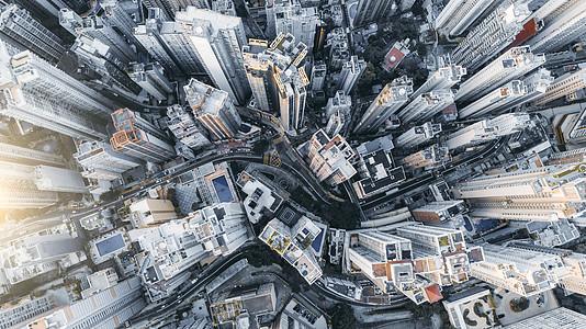 香港港岛航拍图片