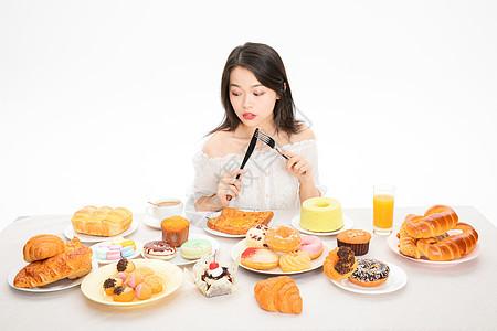 美女喝下午茶图片